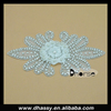 2016 new Factory price 3d flower bridal crystal applique / hot fix wedding flower crystal rhinestone applique 3d designs DH-949