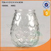 2016 best selling glass candle holder with emboss for wholesale world market