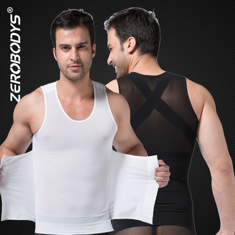 358 ZEROBODYS Powerful Mens Body Shaper 300g High Powernet Vest Plus Size Waist Training Corset Men Slim Fit Suits