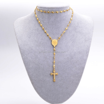 Western style the cross pendant gold necklace flat shape simple western style the cross pendant gold necklace flat shape simple chain woman jewelry necklace aloadofball