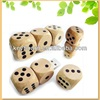 factory top selling dice shape wood usb flash drive