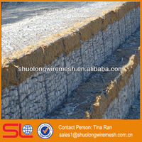 Galvanized or pvc wire cages gabion sea wall