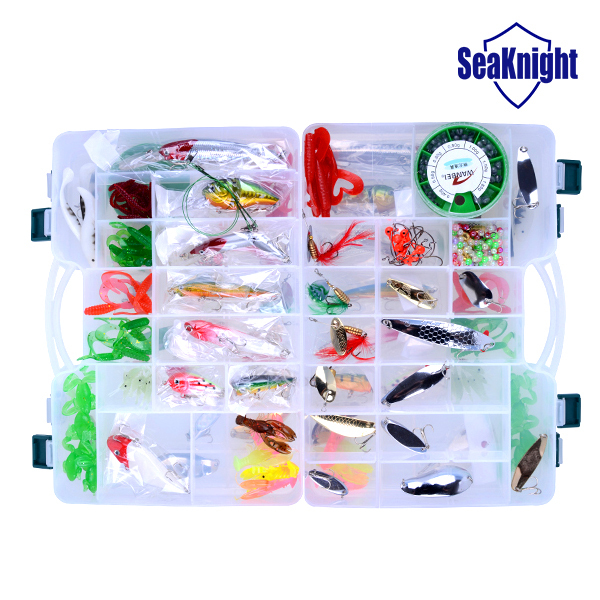 Get Quotations · SeaKnight 2015 Minnow Crank Spinner Popper Soft Bait Fishing Lure Set Kit Suit Box Large Size