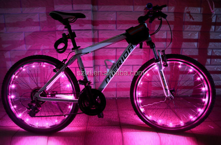 fiets fiets 20 leds wiel sprak staaldraad velg fiets flitslicht ...