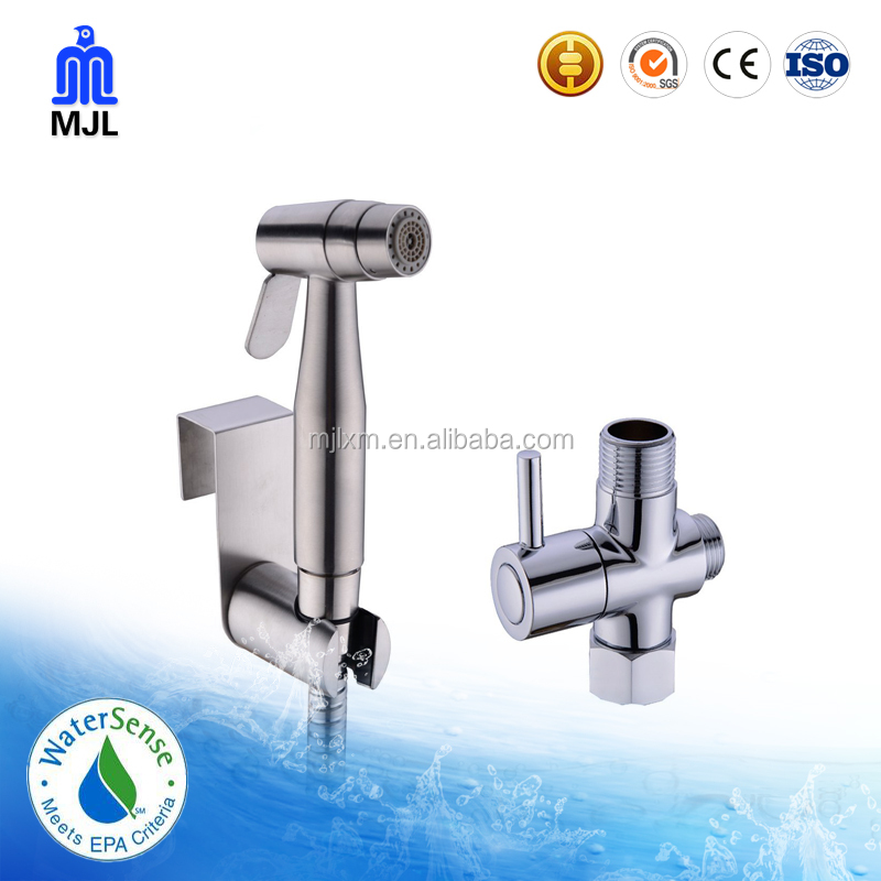 2 Functions 304 Stainless Steel Handheld Bidet Spray Set Wall Mount Holder