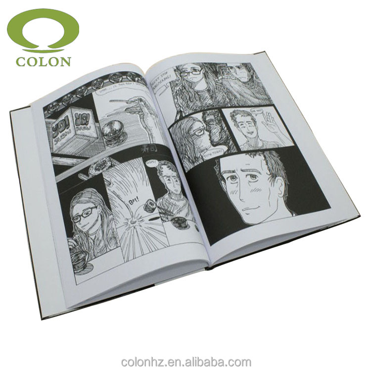 Hardcover book comic book printing decorative hardcover books
