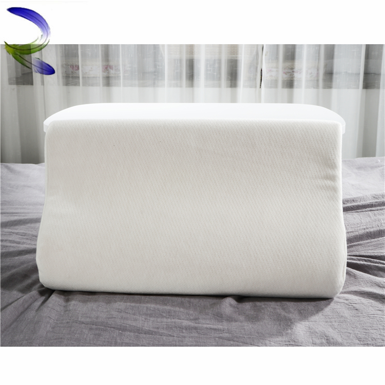 Top selling stitching memory foam feather pillow Spinal massage pillow cushion almohada cervical blanca 50x90