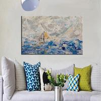 High Quality Handmade Living Room Wall Decoration Abstract Seas ...