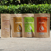 kraft paper bag for snack food packaging / printed brown kraft paper beef jerky bag