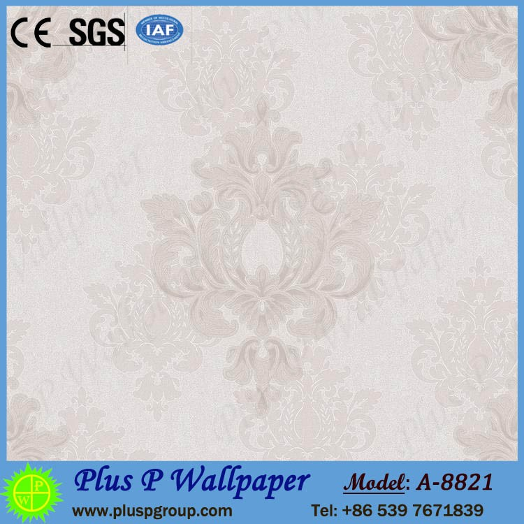 Plus P Decorative karachi wallpaper pvc 3d mural wallpaper