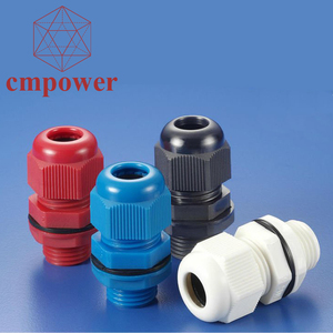 Custom Earth Ground Cable Protection Waterproof Nylon Cable Gland 20mm