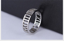 hot selling number hollow out process zinc alloy men finger rings roman number engraved fashion finger rings
