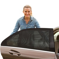 Universal 2 Backseat Breathable Mesh Side Car Window Sun Shade for Baby kid
