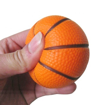 Basketball games printing PU stress ball for kids toy