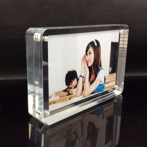 "custom magnetic new style clear 8"" 10"" 12"" clear acrylic photo frame"