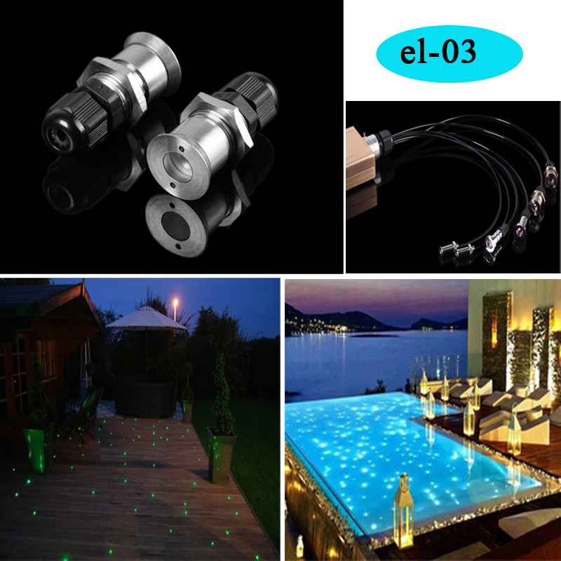 fiber optic light end pieces for ceiling sauna swimming pool lights