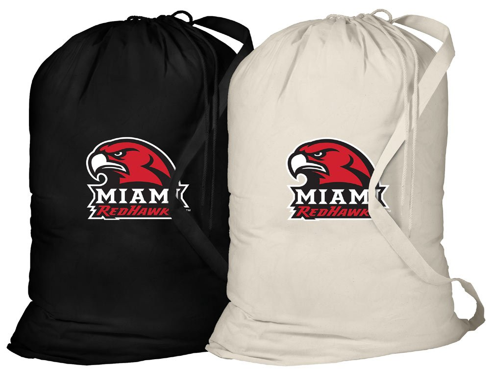 Miami University Laundry Bag -2 Pc SET- Miami RedHawks Clothes Bags