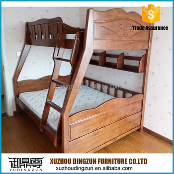 Solid Wood Bunk Bed For Dubai Saudi Arabian Countries European Style