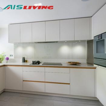 Apartment furniture lacquer white melamine kitchen cabinet, View ...