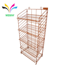 Floor standing supermarket cosmetics Candy Bag car battery beer bottle chewing gum bread metal wire display rack