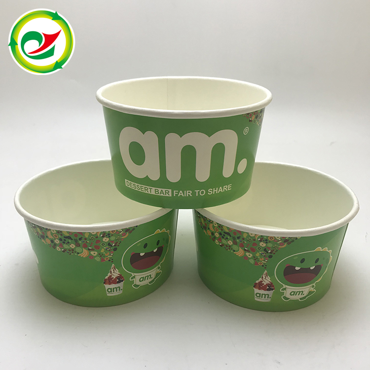Disposable custom printed take away salad soup paper bowl for sale