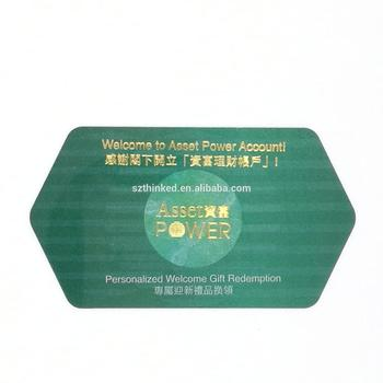 custom hexagon shape plastic die cut pvc irregular nonstandard non standard printed special card