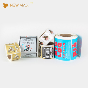 China Manufacturer Custom Printed Adhesive Food Packaging Roll Label Stickers
