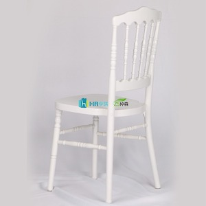 white wooden napoleon wedding chair wooden event banquet chair
