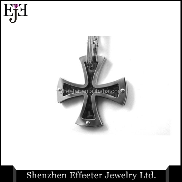 Bali Indonesia Jewelry Silver Cross 316L Stainless Steel Pendant