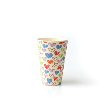 Coffee Reusable Travel Cup Bamboo Cups Custom Design