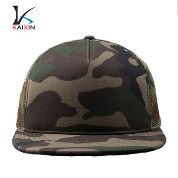 Custom stylish 5 panel snapback mesh camo wholesale blank trucker hats 4332b1d97ff3