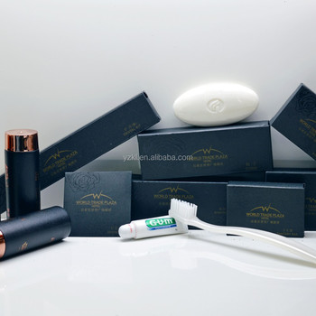 Hotel Bathroom Accessory Set, Leather Hotel Guestroom Accessories /Hotel Bathroom  Accessories