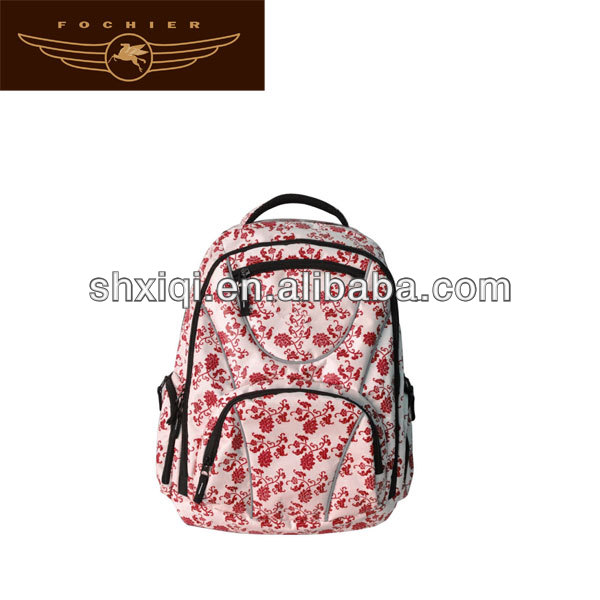 polyester backpack school bags for teenage girls