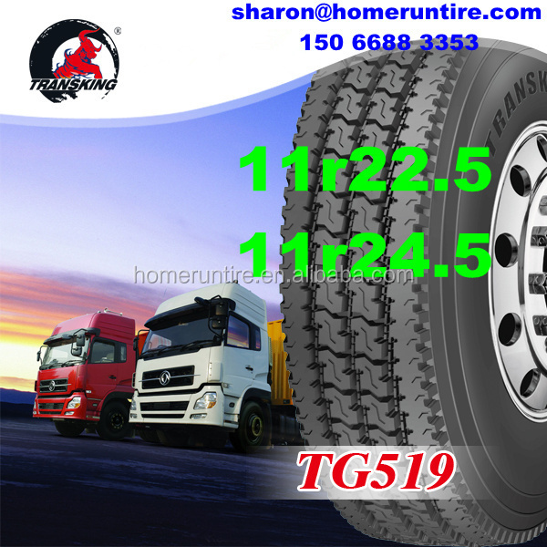 Wholesale Semi Truck and Bus 295/75r22.5 Tire for USA, TRANSKING Low Profile/Drive/Trailer Tire 295/75r22.5 with DOT, 11r22.5