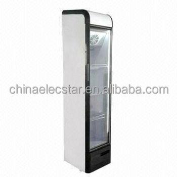 125l Retro Slim Glass Door Cooler Beverage Coolerupright Display