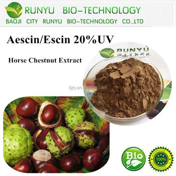 Natural Pure Organic Herbal Extract Aescin horse chestnut extract 20%,98%