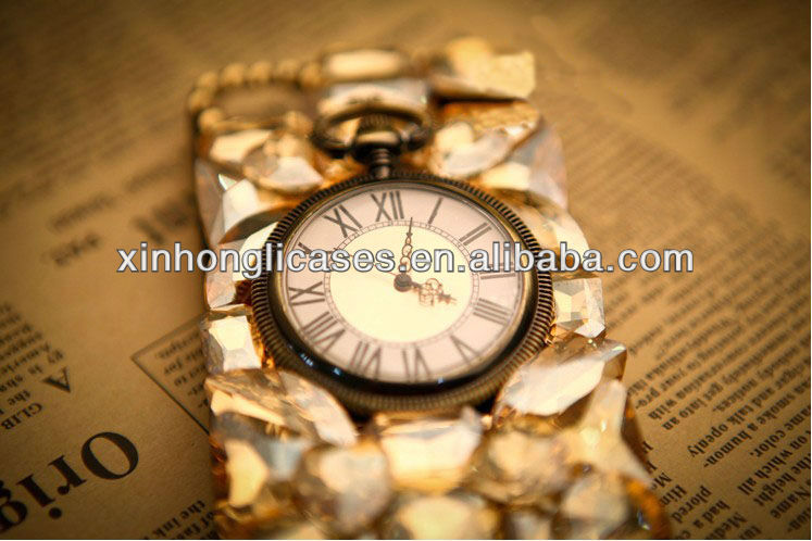 3D Watch Cell Phone Case for Iphone 4/4S/5 Galaxy S3 9300/ S4 9500/Note II 7100