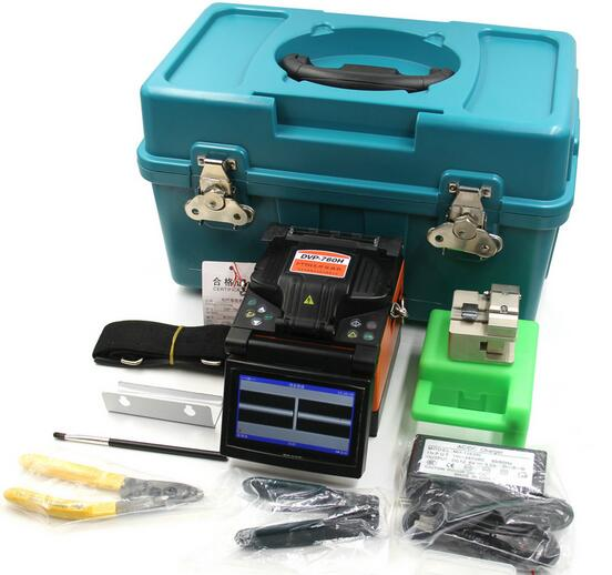 FTTH Fiber Optic Splicing Machine Fusion Splicer DVP760 Digital Fusion Splicer Including Fiber Cleaver Stripper