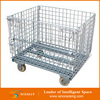 Wire Pallet Collapsible Storage Metal Container With Lid