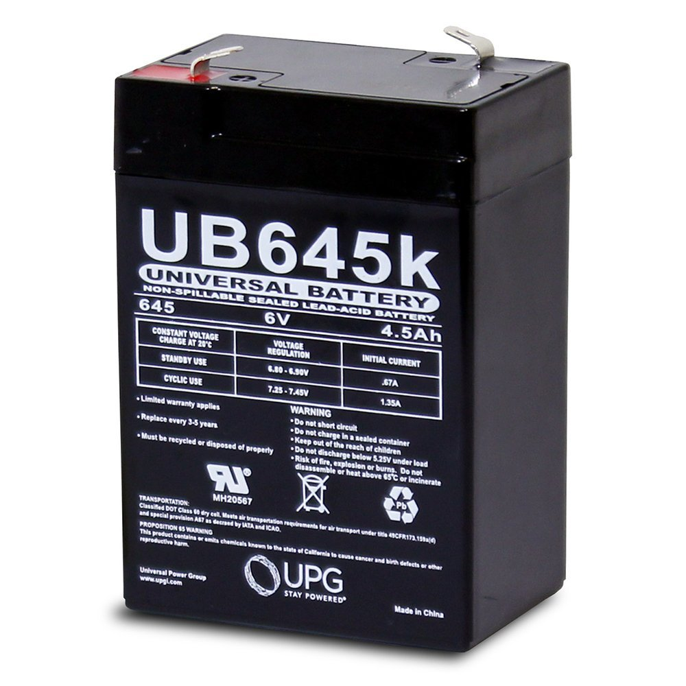 UB645 6V 4.5AH Oreck electric broom AV701B replacement battery