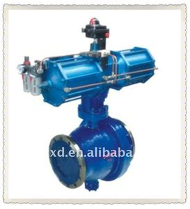 Pneumatic cinder discharge ball valve(equipped with AW double action,signal switch of triple unit)