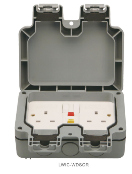 Ip67 13a 2000w Fuse Switch Uk Plug Weatherproof Twin Socket
