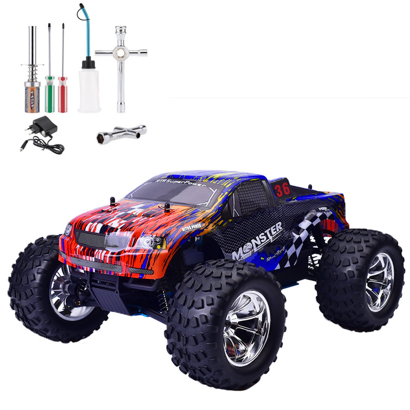 Hsp Rc Truck Nitro Gas Power Off Road Monster Truck 94188: HSP Rc Car 1/10 Scale Nitro Gas Power Off Road Monster