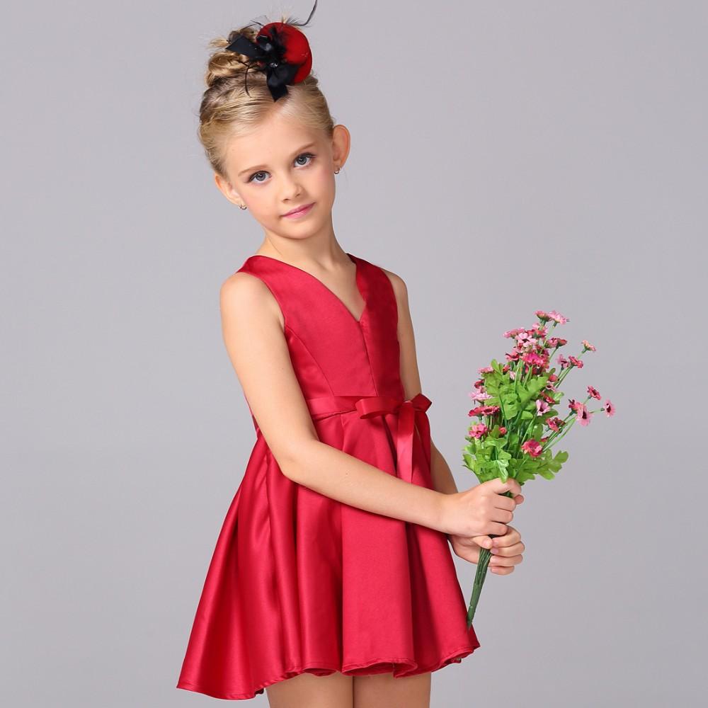 Kinder Kleid Modell Red Sleeveless Sommerkleid Baby Mädchen V ...