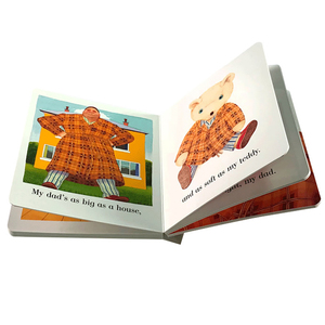 Children hardcover cardboard board book printing on demand