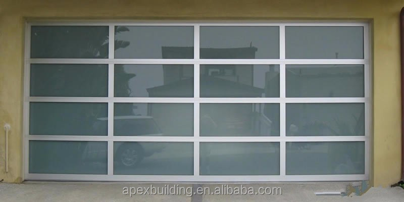 Aluminum glass sectional garage door sizes brands of for Sectional glass garage door