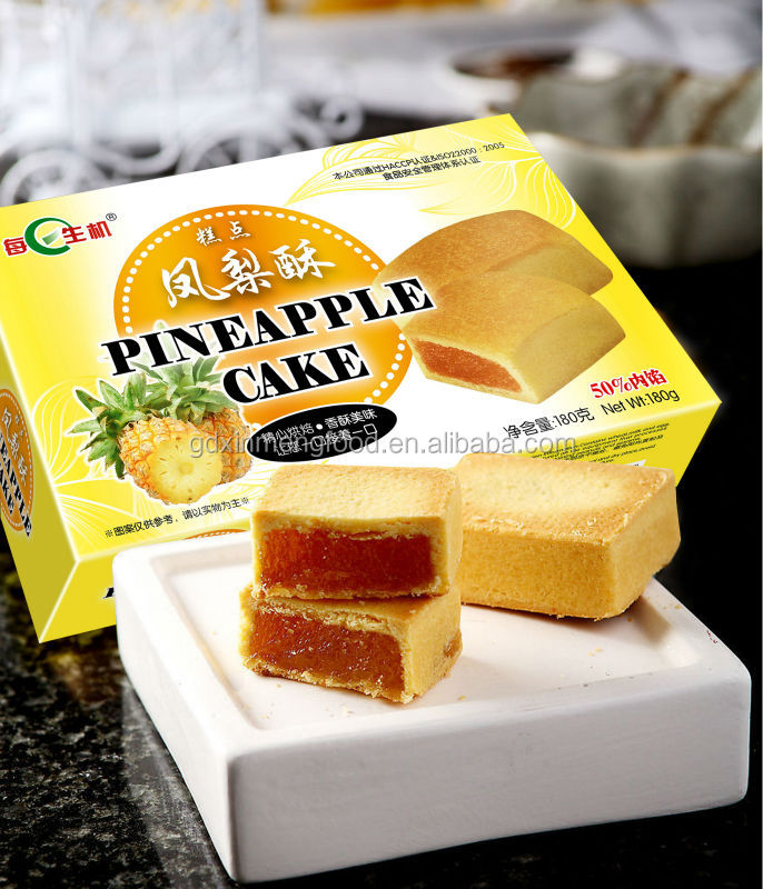 Traditional Pastry Fruity Flavor Pineapple Cake 180g