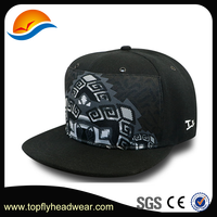 Topfly Headwear Cap Manufacturer Wholesale Custom Design Plain Black Cotton Twill Snapback Trucker Cap And Hat