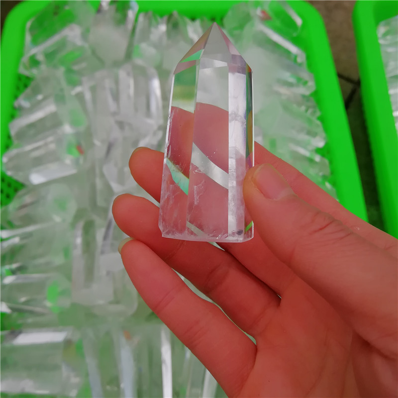Wholesale Healing Natural Clear White Quartz Crystal Column /Point