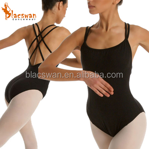 WOMENS BALLET CAMI LEOTARD WITH A GEOMETRIC BACK